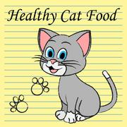 Healthy Cat Food Showing Cuisine Culinary And Pet Stock Illustration