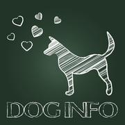 Dog Info Showing Inform Doggy And Support Stock Illustration