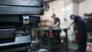 Industrial working masters factory Stock Footage