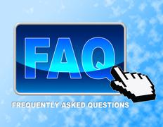 Faq Button Representing Frequently Asked Questions And Web Site Stock Illustration