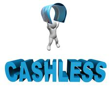 Cashless Credit Card Indicates Purchase Prepaid And Prepay 3d Rendering Piirros