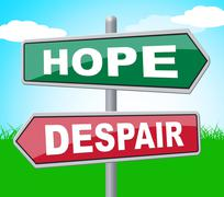 Hope Despair Meaning Despondency Template And Board Stock Illustration