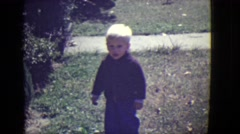 1946: small girl is seen happy and walking DETROIT, MICHIGAN Stock Footage