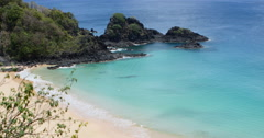 4K Paradise tropical beach. Idyllic Shore Beach With Turquoise Water. Stock Footage