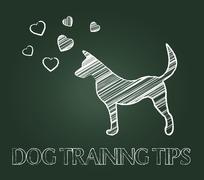 Dog Training Tips Indicating Trained Pets And Doggy Stock Illustration
