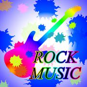 Rock Music Indicating Sound Track And Pop Piirros