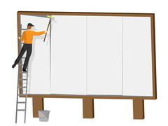 Copyspace Billboard Showing Signs Promote And Blank Stock Illustration