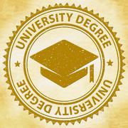 University Degree Meaning Educating College And Graduation Piirros