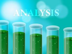 Analysis Experimant Representing Data Analytics And Investigation Stock Illustration