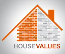 House Values Representing Current Prices And Amount Stock Illustration