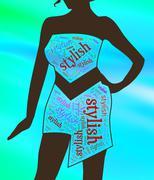 Stylish Dress Representing Elegant Elegance And Vogue Stock Illustration
