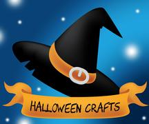Halloween Crafts Indicating Trick Or Treat And Artwork Art Stock Illustration