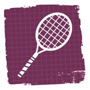 Tennis Icon Meaning Racquet Sport And Practice Stock Illustration