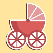 Pram Icon Meaning Sign Perambulator And Parenting Stock Illustration