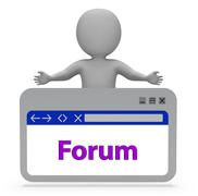 Forum Webpage Represents Discussion Group And Website 3d Rendering Stock Illustration