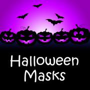 Halloween Masks Meaning Trick Or Treat And Fancy Dress Stock Illustration