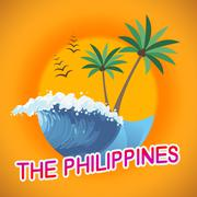 Philippines Vacation Indicating Summer Time And Summertime Stock Illustration