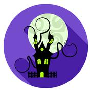 Halloween House Icon Meaning Residential Houses And Residence Stock Illustration
