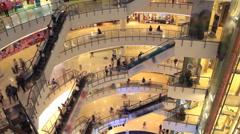 Shopping mall pedestrian Stock Footage