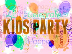 Kids Party Representing Parties Celebrations And Youngsters Stock Illustration