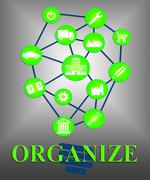 Organize Ideas Representing Plan Plans And Conception Stock Illustration