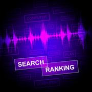Search Ranking Meaning Gathering Data And Investigate Stock Illustration