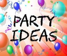 Party Ideas Showing Contemplate Innovations And Celebrate Stock Illustration