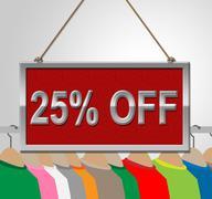 Twenty Five Percent Indicating Sign Bargains And Bargain Stock Illustration