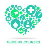 Nursing Courses Representing Nurse Job And Caregiver Piirros