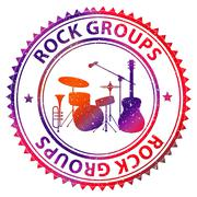 Rock Groups Representing Melody Band And Music Stock Illustration