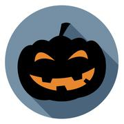 Halloween Pumpkin Icon Indicating Trick Or Treat And Trick Or Treat Stock Illustration
