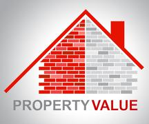 Property Value Representing Current Prices And Home Stock Illustration
