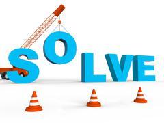 Solve Crane Represent Solving Successful 3d Rendering Stock Illustration