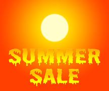 Summer Sale Retail Offer And Discount Promotions Stock Illustration