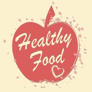 Healthy Food Means Fruit And Foodstuff Wellbeing Stock Illustration