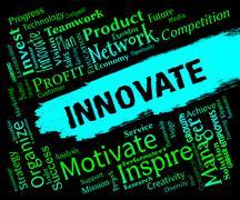 Innovative Words Represents Creative Breakthrough And Idea Stock Illustration