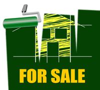 House For Sale Means Real Estate Selling Stock Illustration