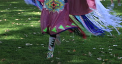 Teenage Native American girls traditional dance DCI 4K 583 Stock Footage