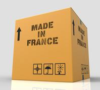Made In France Represents French Manufacturing 3d Rendering Piirros