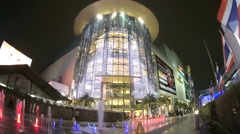 Siam Paragon Shopping Mall in Bangkok, Thailand Stock Footage