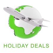 Holiday Deals Means Vacation Discounts 3d Rendering Piirros
