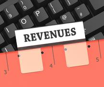 Revenues File Indicates Earning Gain 3d Rendering Stock Illustration