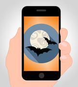 Halloween Bats Online Shows Spooky Hanging Animals Piirros