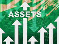 Assets Graph Represents Resources Valuables And Holdings Stock Illustration
