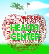 Health Center Means Preventive Medicine And Healthcare Stock Illustration