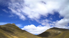 Shadows on Southern Alps Mountain Range and cloudscape in summer sunshine Stock Footage