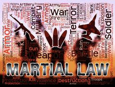 Martial Law Means Civil Rights Stopped And Coups Stock Illustration