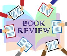 Book Review Represents Reviewing Fiction And Knowledge Stock Illustration