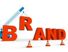 Build Brand Represents Company Trademark 3d Rendering Stock Illustration