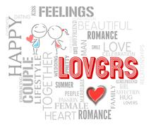 Lovers Words Indicates Affection Compassion And Togetherness Stock Illustration